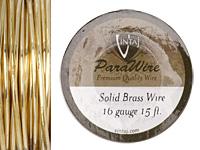 Vintaj Solid Brass Wire 16 gauge, 15ft.