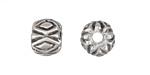 Greek Pewter Diamond Pattern Bead 10x12mm