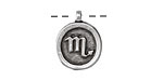 Greek Pewter Scorpio Pendant 15x18mm