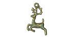 Zola Elements Patina Green Brass Reindeer Charm 14x23mm