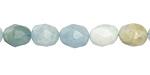 Aquamarine (multi) Faceted Nugget 16-18x12-13mm