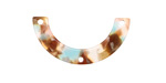 Zola Elements Mermaid Acetate U-Shape Y-Connector 30x15mm
