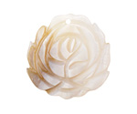 Mother of Pearl Carved Rose Focal 30-32mm
