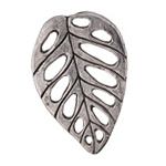 Green Girl Pewter Filigree Leaf 30x44mm