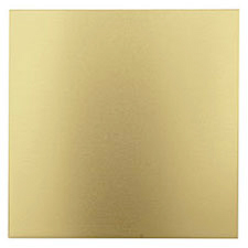 "Lillypilly Gold Anodized Aluminum Sheet 3""x3"", 22 gauge"