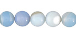Arctic Blue Agate Round 10mm