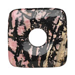 Rhodonite (w/ extra black matrix) Square Donut 40mm
