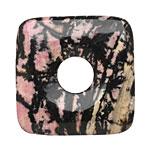 Rhodonite (w/ extra black matrix) Square Donut 40mm
