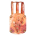 Patricia Healey Copper Embellished Cactus 20mm Cord Slide 23x45mm