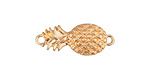 Zola Elements Matte Gold Finish Pineapple Focal Link 26x11mm
