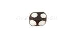 African Batiked Bone Polka Dot Barrel Bead 8-11x7-9mm