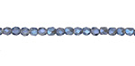 Black Diamond w/ Blue Luster Crystal Tiny Faceted Barrel 3mm