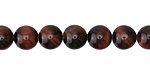 Red Tiger Eye Round 8mm