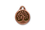 TierraCast Antique Copper (plated) Bird In A Tree Pendant 16x20mm