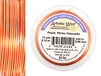 Artistic Wire Silver Plated Peach 22 gauge, 10 yards
