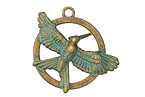 Zola Elements Patina Green Brass Spread Your Wings Pendant 30mm