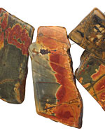 Red Creek Jasper Slab Drop 30-40x40-60mm