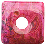 Ruby Crazy Lace Agate Square Donut 50mm
