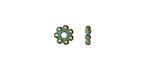 Zola Elements Patina Green Brass Daisy Spacer 1.5x6mm