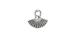 Zola Elements Antique Silver (plated) Small Fan Charm 13.5x12.5mm