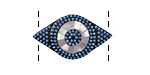 Turquoise w/ Mother of Pearl Pave CZ Gunmetal (plated) Eye Focal Link 28x16mm