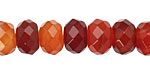 Carnelian (natural) Faceted Rondelle 8x12mm