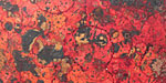 "Lillypilly Wild Fire Patina Copper Sheet 2""x10"", 36 gauge"