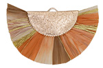 Sahara Mix w/ Metallic Gold Fringed Raffia Focal 45x27mm
