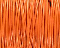 Orange Round Leather Cord 2mm