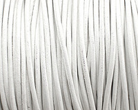 White Round Leather Cord 2mm