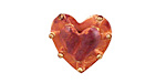 Patricia Healey Copper Bumpy Heart Button 19x20mm