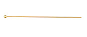 "Gold (plated) 49mm Ball Headpin 2"", 21 gauge"