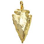 Gold Plated Gemstone Arrowhead 20-25x35-45mm
