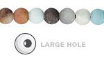 Black Gold Amazonite (Matte) Round (Large Hole) 8mm