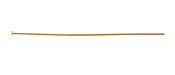 "Gold (plated) Headpin 2"", 24 gauge"