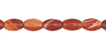 Carnelian (natural) Rice 9x6mm