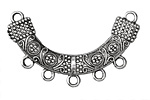 Zola Elements Antique Silver (plated) Embroidered Arc Focal Link 44x38mm