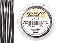 Artistic Wire Grey 18 gauge, 10 yards