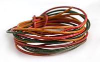 Weathered Tourmaline Leather Cord 1.5mm