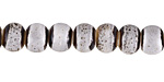 Birch w/ Speckles Banded Porcelain Tumbled Rondelle 7x10mm
