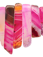 Ruby Line Agate Graduated Rectangle Drop 10x20-55mm