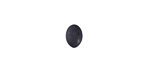 Matte Black Resin Oval Cabochon 6x8mm