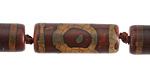 Tibetan (Dzi) Agate Barrel 30x10mm