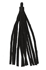 Black Small Suede Tassel