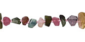 Tourmaline Faceted Nugget 3-10x4-10mm