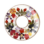 Patricia Healey Copper Bound Pressed Floral Resin Donut 41mm