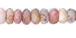 Pink Opal Faceted Rondelle 6x10-11mm