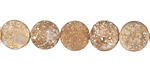 Champagne Druzy Coin 10mm