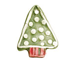 Jangles Ceramic Green Textured Tree Pendant 30x38mm