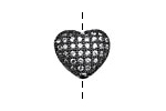 Gunmetal CZ Micro Pave Heart 10mm
